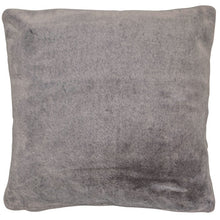 Load image into Gallery viewer, Grey Fur Effect cushion 50x50cm