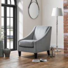 Load image into Gallery viewer, Maison Grey Velvet Chair