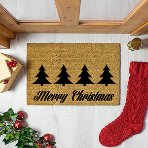 Merry Christmas Coir Doormat
