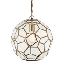 Load image into Gallery viewer, Mila Small Antique Brass Pendant Light