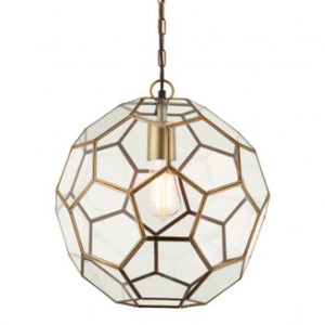 Mila Small Antique Brass Pendant Light