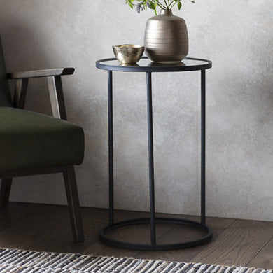 Tall Mirror Side Table