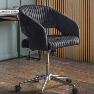 Murri Swivel Chair Black Velvet