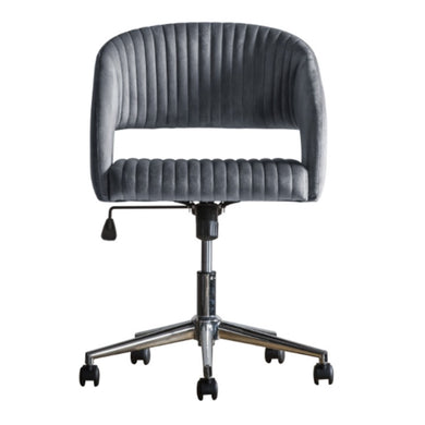 Murri Swivel Chair Grey Velvet