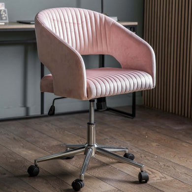 Murri Swivel Chair Pink Velvet