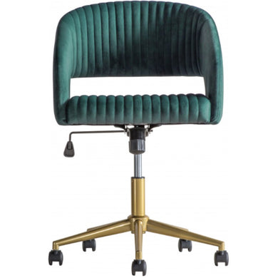 Murri Swivel Chair Green Velvet