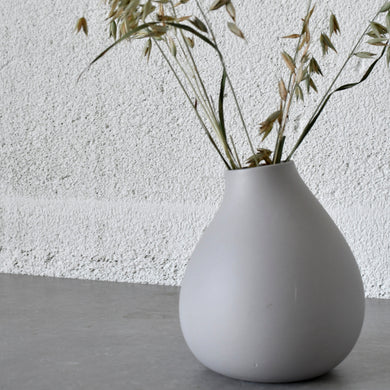 Matt Grey Ceramic Vase