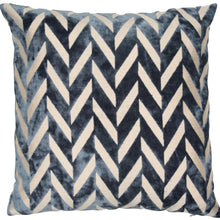 Load image into Gallery viewer, Navy Chevron Cushion