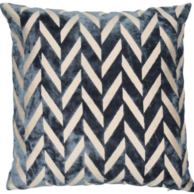 Navy Chevron Cushion