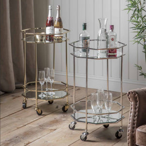 Octavia Drinks Trolley Gold
