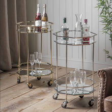 Load image into Gallery viewer, Octavia Drinks Trolley Silver