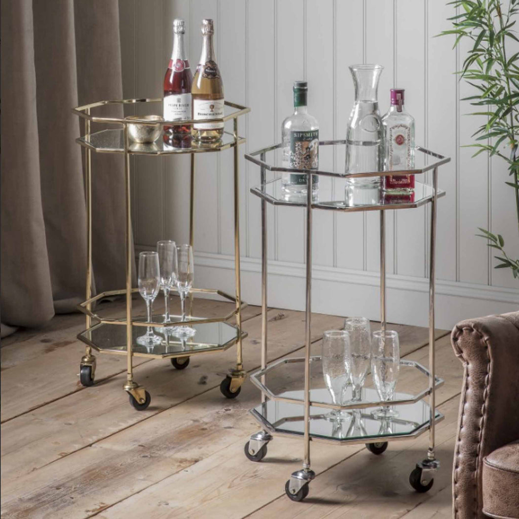 Octavia Drinks Trolley Silver