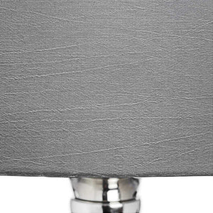 Olivia Glass Table Lamp with Grey Shade