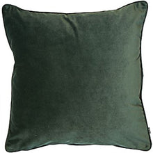 Load image into Gallery viewer, Pine Green Velour Cushion 50cmx50cm