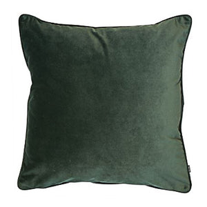 Large Pinegreen Velvet Cushion 50cm x 50cm