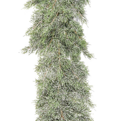 Pine Garland with Frosting 2.7m