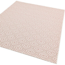 Load image into Gallery viewer, Pink Square Design Patio Rug