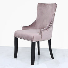 Load image into Gallery viewer, Pink Velvet chair with knocker
