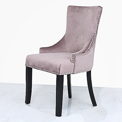 Pink Velvet chair with knocker