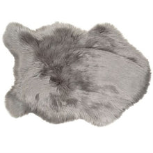 Load image into Gallery viewer, Grey-Faux Sheepskin Rug 90cmx60cm