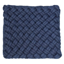Load image into Gallery viewer, Navy Weave Cushion 45x45cm