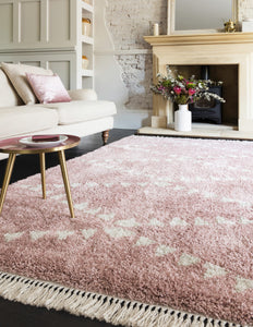 Rocca Pink Fringed Rug