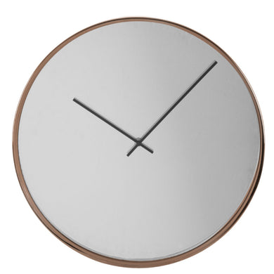 Rose Gold Mirror Wall Clock 40cm