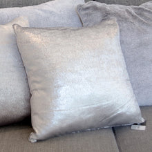 Load image into Gallery viewer, Metallic Silver Effect Cushion 45x45cm