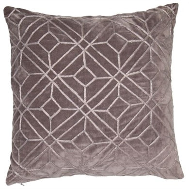 Velvet Silver Embroidery Cushion 45x45cm