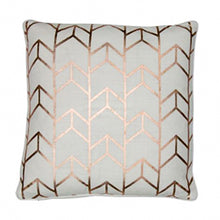 Load image into Gallery viewer, Rose Gold Geo Cushion 43x43cm