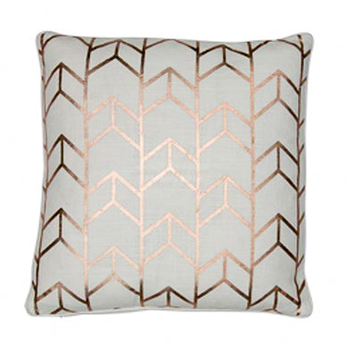Rose Gold Geo Cushion 43x43cm