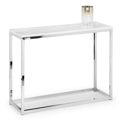 Scarlet White Marble Console Table