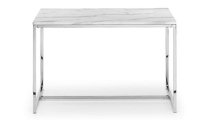 Scala White Marble Dining Table