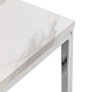 Scarlet White Marble Side Table