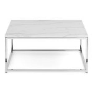 Scarlet White Marble Top Coffee Table