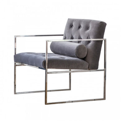 Sergi Grey Velvet Chair