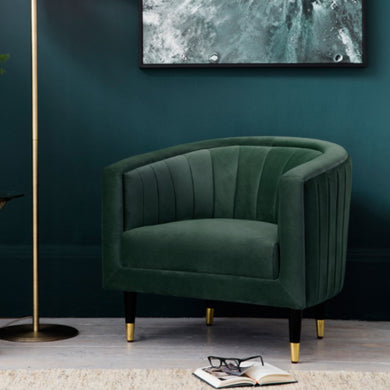 Serra Green Velvet Chair