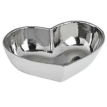 Load image into Gallery viewer, Silver Ceramic Heart Bowl