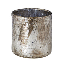 Load image into Gallery viewer, Silver Oxidised Hurricane Candle Holder