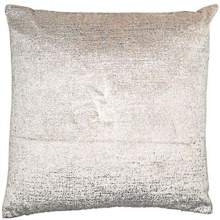 Silver Velvet Metallic Cushion 43cm x 43cm