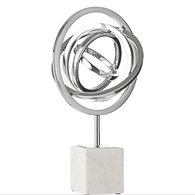 silver abstract ornament