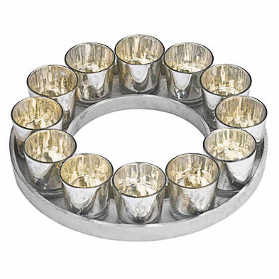 Small Circular Candle Votive Tray