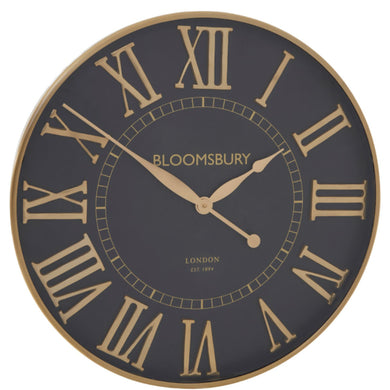 Small Black & Gold Clock 61cm