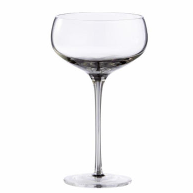 4pk Smoke Champagne/Cocktail Saucer Glass