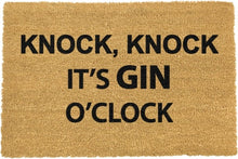 Load image into Gallery viewer, Knock Knock It's GIN O'Clock Doormat 60x40cm