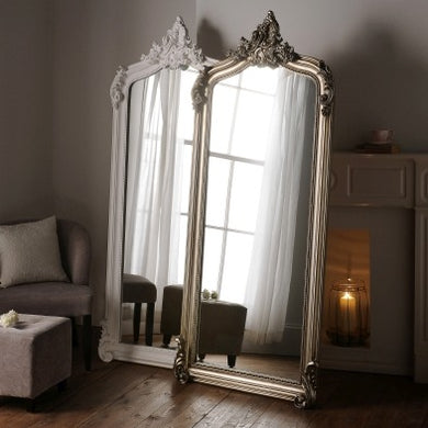 Full Length  White Baroque Mirror 76cm x 183cm