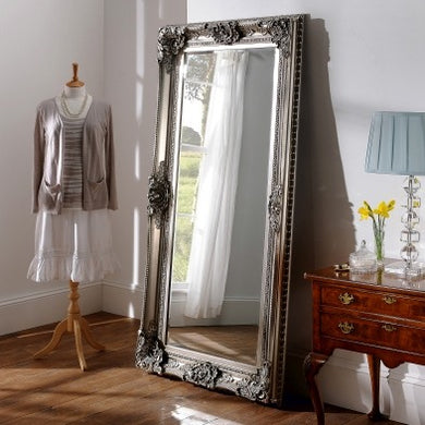 Full Length Silver Baroque Mirror 91cm x 183cm