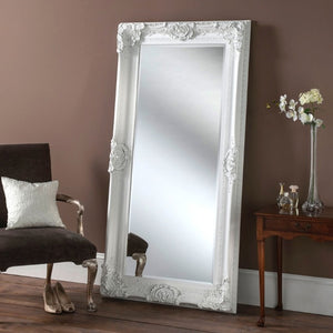Full Length  White Baroque Mirror 91cm x 183cm
