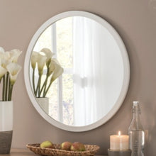 Load image into Gallery viewer, Circular Mirror White Frame 110cm x 110cm