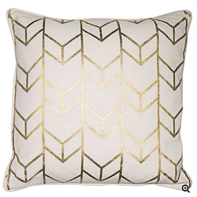 Gold Geo Cushion 43x43cm